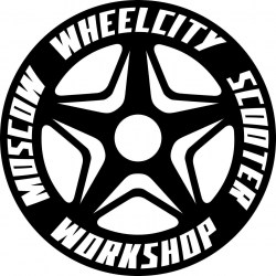 Наклейка Wheelcity Star Logo Sticker Black